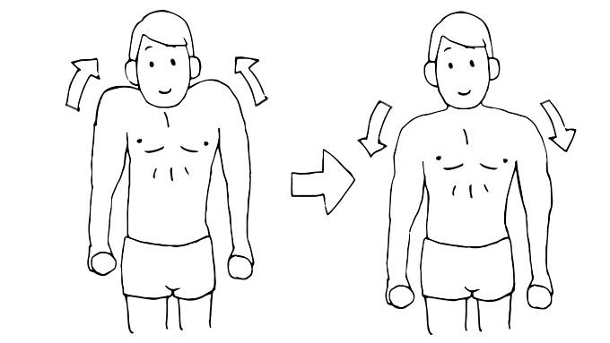 肩こり予防解消トレーニング3